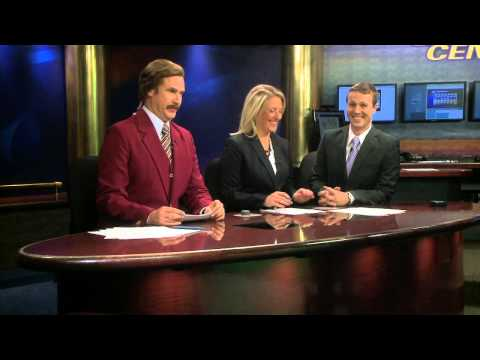 Ron Burgundy Co-Anchors KXMB Newscast