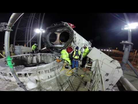 Antares Rocket Rolls Out for Space Station Launch | NASA Orbital Science HD