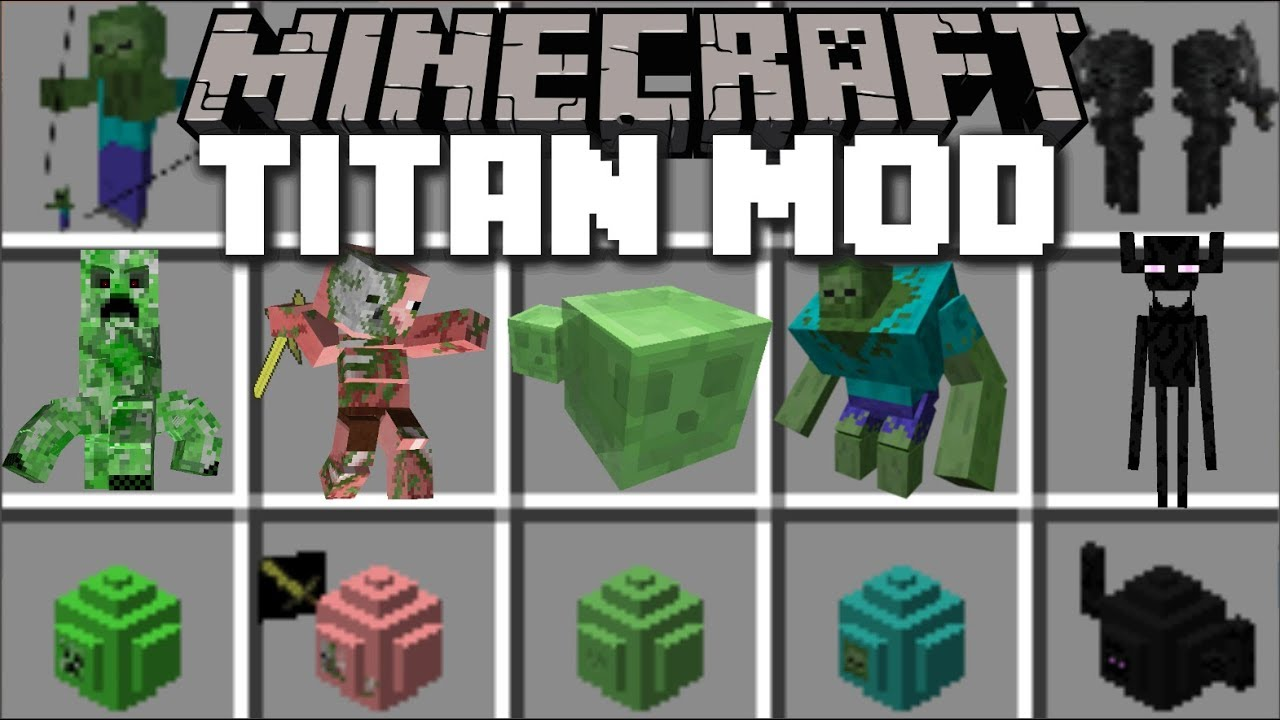 Minecraft TITAN MOD / FIGHT OFF THE EVIL ZOMBIE TITANS!! Minecraft