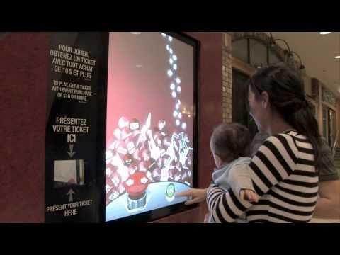 INTERACTIVE RETAIL WINDOWS - Christmas Promotion by 2XM Interactive & SGM Agency