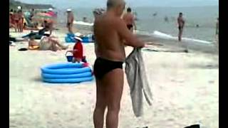 Trying To Wear Pants Like A Shirt, Hilarious Beach Fail