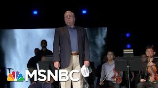 Disheveled President Donald Trump Shows Up At Church On Pray For Trump Day | All In | MSNBC