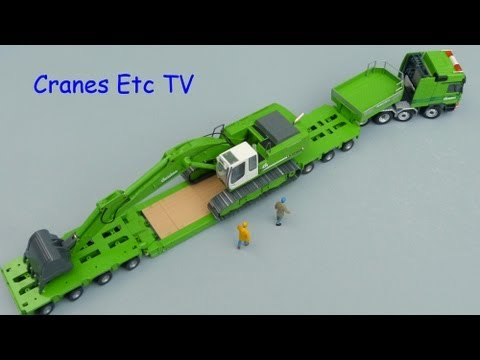 Conrad Mercedes-Benz Titan + Goldhofer Trailer 'Christen' by Cranes Etc TV