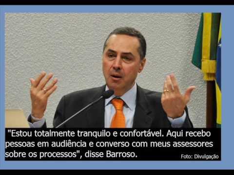 """Barroso considera grampo em seu gabinete algo """"gravíssimo""""."""