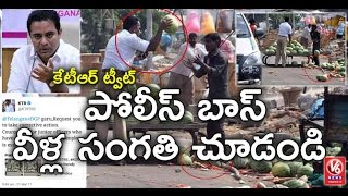 Download Traffic Police Attack On Fruits Merchant | KTR Tweet DGP To Take Action | V6 News 3Gp Mp4