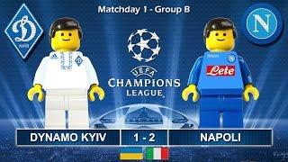 Dynamo Kiev vs Napoli 1-2 • Champions League 2017 (13/09/2016) goal highlights Lego Football