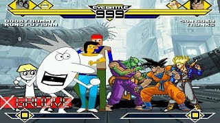 Most Mysterious vs Dragon Ball Z (AK1 BLUE VS RED) 4v4 MUGEN Battle #7 Series!!!