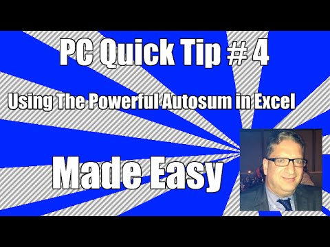 PC Quick TIp 4   Using AutoSum in Microsoft Excel 2007, 2010, 2013, 2016
