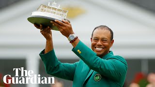 'I'm just lucky to be able to do this again,' says Tiger Woods after Masters win