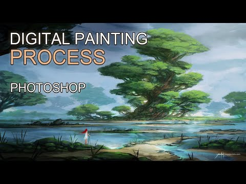 Green Shores - Digital Painting Timelapse
