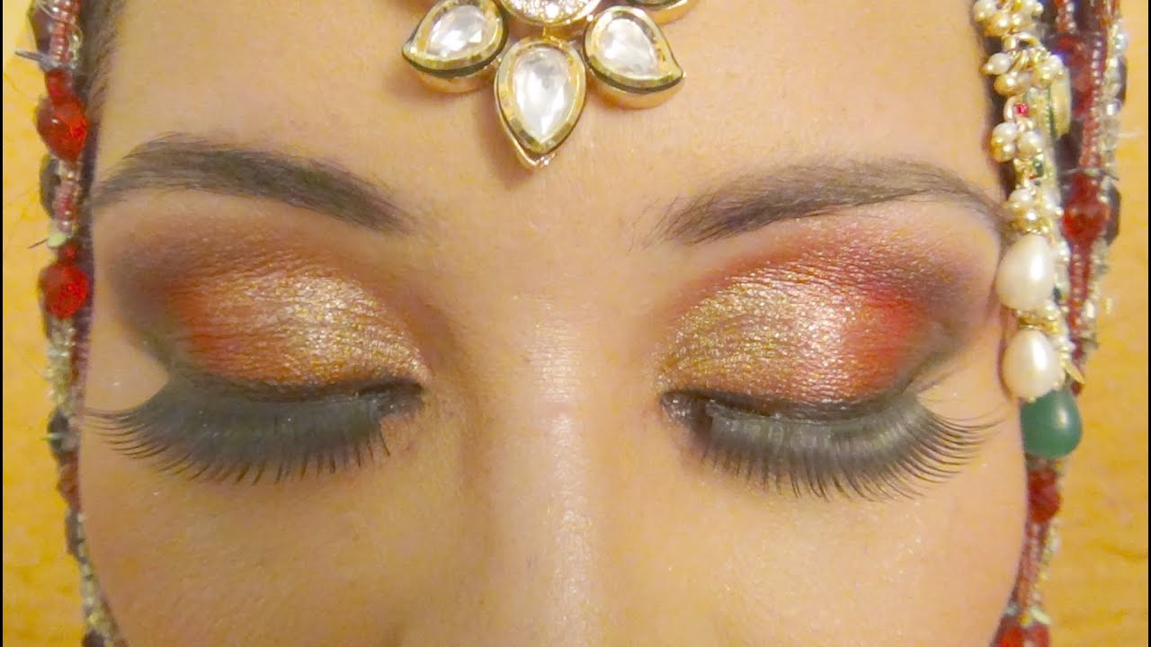 Muslim Wedding Makeup : Muslim Bridal Makeup - Red Arabic Smokey Eyes ( Complete ...