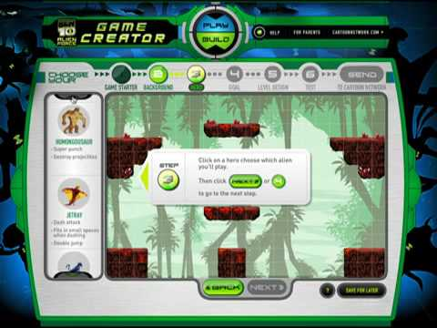 Ben 10 Alien Force Game Creator Tutorial