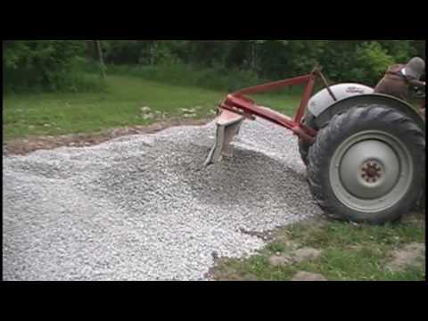 Gravel Leveling with the 1953 Ford Jubilee Tractor