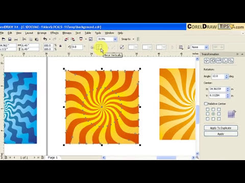 Creating a distinguishing background in CorelDraw