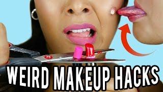 10 Weird Makeup HACKS You
