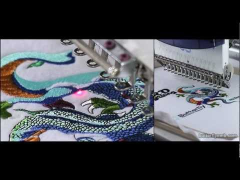 Sew the DRAGON! - 80,000 stitch embroidery 2 HOURS sewing - on a Butterfly Embroidery machine