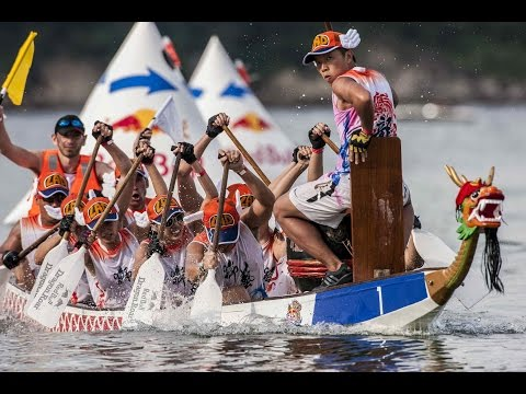 Dragon Boat Racing In Hong Kong   Red Bull Dragon Roar 2014