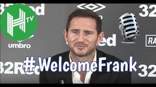 Frank Lampard's first press conference as Derby County manager