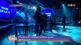 Flor de la V es Catherine Zeta-Jones - Tu Cara Me Suena 2014