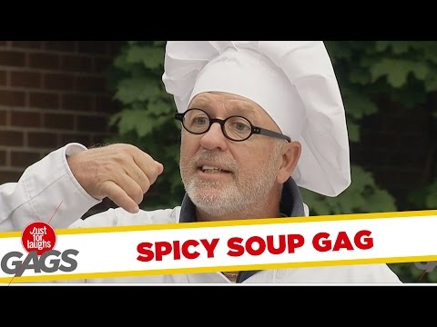 Extremely Spicy Soup Prank