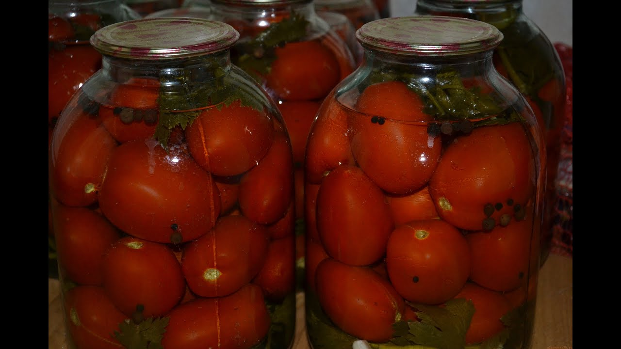 Рецепт маринованных помидоров на зиму в банках