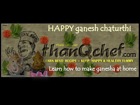 Making Ganesha Idol with Edible items (Wheat flour Ganesha)