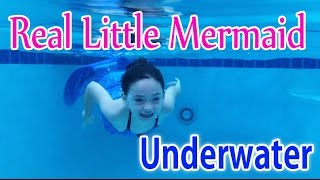 Real Little Mermaid Swimming Underwater Fin Fun Mermaid Tail