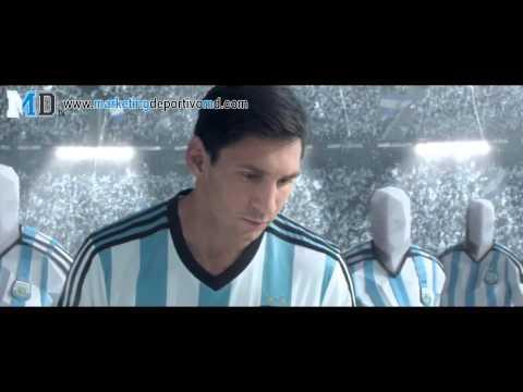 adidas promociona las nuevas zapatillas de Messi para Brasil 2014
