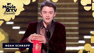 Noah Schnapp Accepts the Award for Most Frightened Performance   2018 MTV Movie & TV Awards