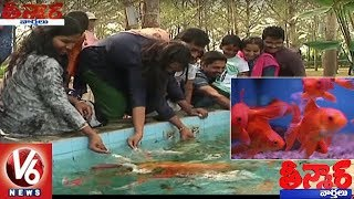 Raja Babu Maintain Large Aquarium | Variety Fishes Attracts Vizag People | Teenmaar News