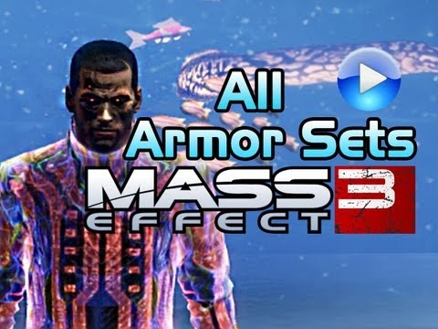 Mass Effect 3: All 32 Armor Sets (mod outfits included)