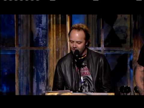 Metallica inducts Black Sabbath Inductions 2006
