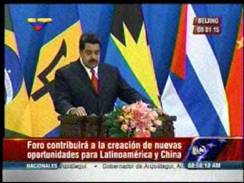 """Maduro en China: """"No faltarán quienes quieran manipular este paso histórico"""""""