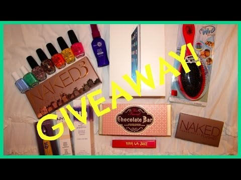 ♡ GIVEAWAY! ♡ Win an iPad Mini, Naked 3, & LOTS MORE!