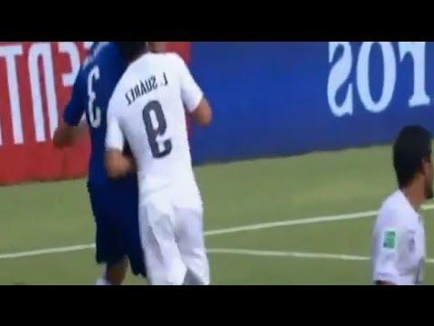 Mordidas de Luis Suarez a Giorgio Chiellini, Branislav Ivanovic y Otman Bakkal