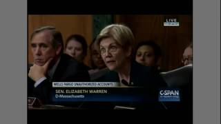 Elizabeth Warren blasts Wells Fargo Chairman and CEO John Stumpf
