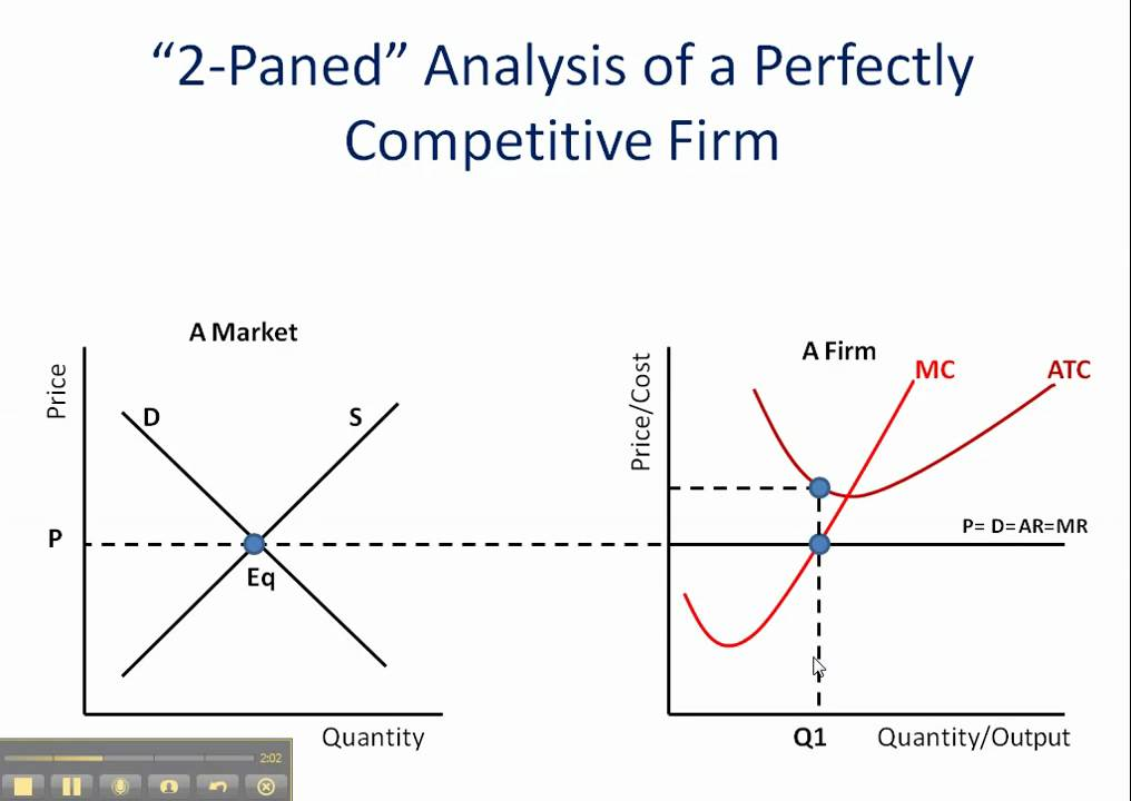 perfect competition  firms operating at a loss