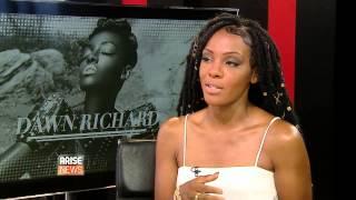 Music artist Dawn Richard speaking to Showbiz Weekly