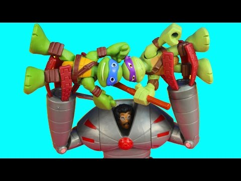 Teenage Mutant Ninja Turtles Replica Turtles Reprogramed By Baxter Stockman Shredder Tmnt Imaginext video