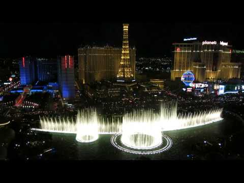 Bellagio Fountains As Seen From Room 26-066 video