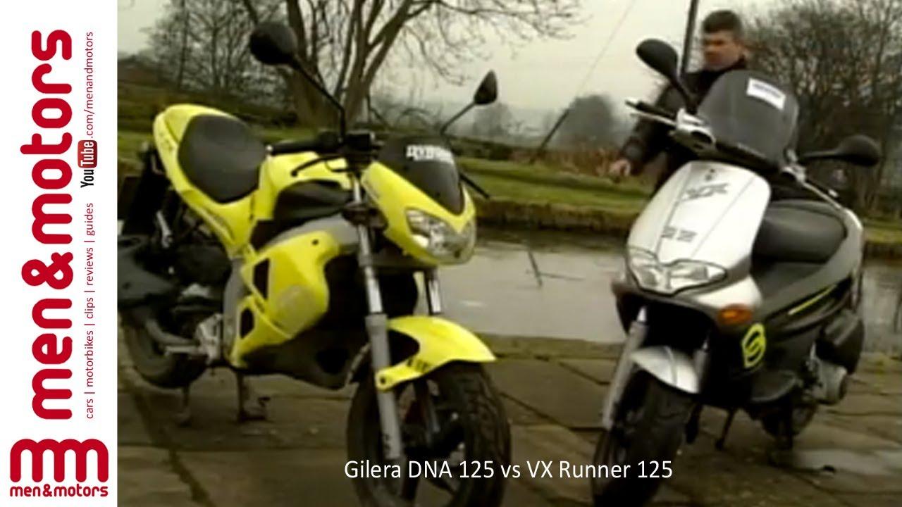 Gilera DNA 125 vs VX Runner 125 - YouTube