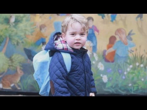 Prince George's first day at nursery, Kate shares two pictures