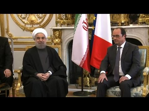 "Hollande to Rouhani: France is ""committed to human rights""."