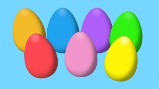 Animated Surprise Easter Eggs for Learning Colors Part I