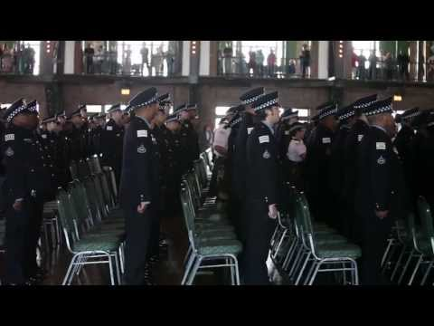 Police recruits graduate at Navy Pier