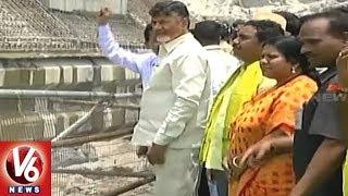 AP CM Chandrababu Inaugurates Polavaram Project Concrete Works