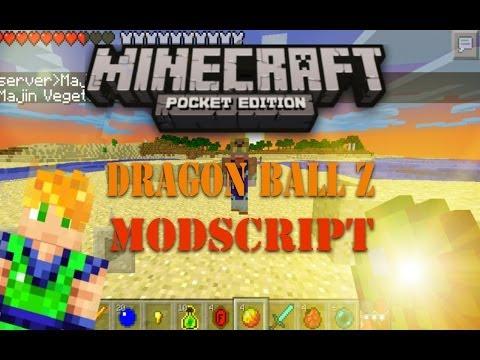 MINECRAFT PE DRAGON BALL Z MOD SCRIPT Y SUPER JUMP MOD