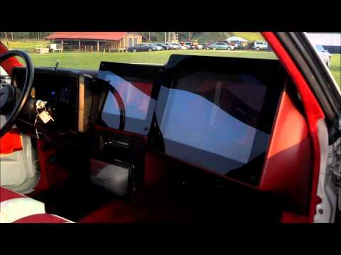 "White Monte Carlo SS on 28"" Rockstarrs Beatin @ Gucci Mane Car Show"