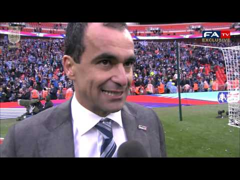 Roberto Martinez interview after Wigan's FA Cup Final win vs Manchester City