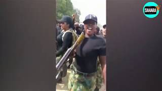 All Female Nigerian Troops Deploying To Fight Boko Haram Terrorists In The Northeast In Dance Mode